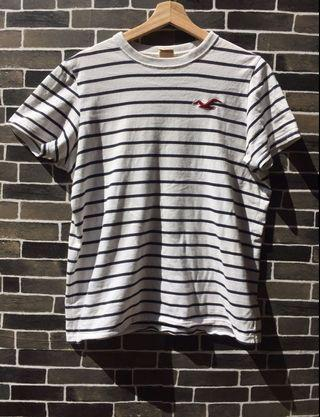 Hollister stripes tee for sale