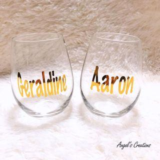 Personalised/Customized Transparent Glass Cup
