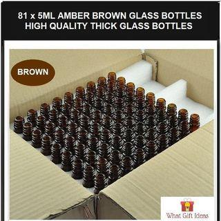 🚚 81 x 5ML Wholesale Amber Brown Glass Bottles | 5ML Glass Bottles | 5ML Wholesale Bottles
