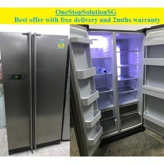 Samsung (551L),Side by-Side door fridge / refrigerator  ($500 + free delivery and 2mths warranty)