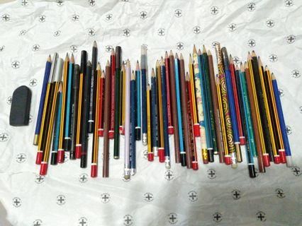 🚚 Assorted pencils!! (46 pcs)