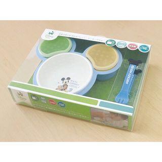 日本迪士尼米奇副食品餐具組(可微波)