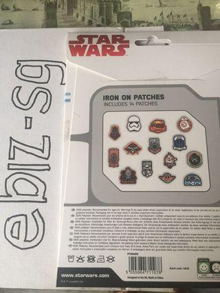 Star wars iron on patches 14 disney BNIP