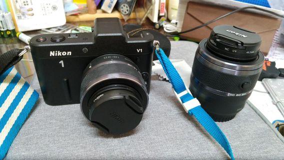 nikon v1 單眼相機雙鏡頭