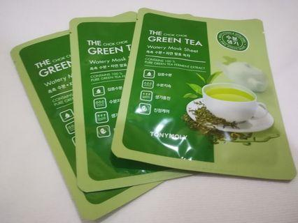 3 pcs Water Mask Sheet (Green Tea)