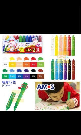 AMOS韓國3合1蠟筆
