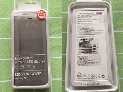 出售全新原廠三星S8 LED感應側翻皮套(銀色)