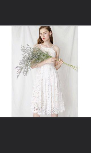 🚚 AWD Fantasy Eyelash Dress White Size S
