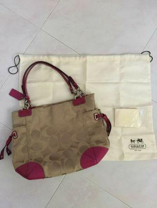 Authentic Coach Signature Handbag
