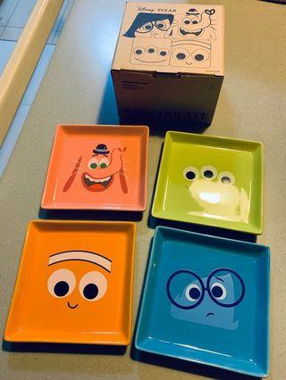 Chocoolate x Disney Pixar Limited Edition Collaboration Side Plates Set Finding Nemo Inside Out Monsters Inc