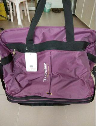 Bn trolley luggage in purple