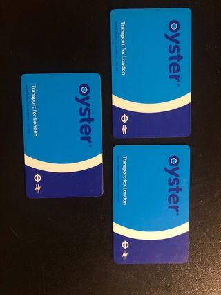 London Oyster cards for sale - 3 in total