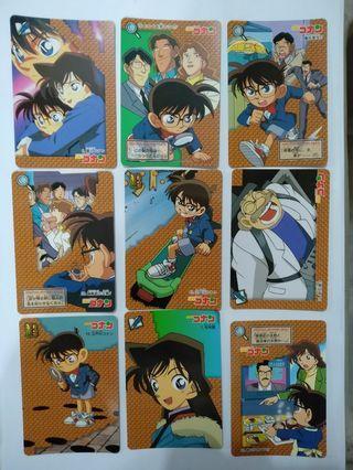 日本名偵探柯南第一代36張白卡