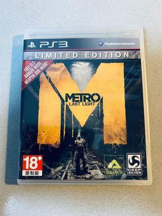 Sony PlayStation 3 PS3 Metro Last Light