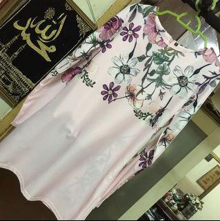 Reduced Price Pink Floral Kurung Set
