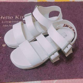 白色羅馬涼鞋🥿(二手)