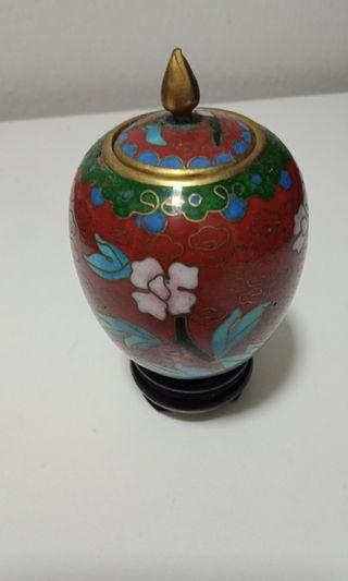 Vintage Chinese Cloisonne Jar (Small)