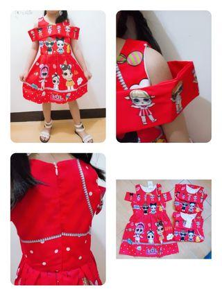 DRESS ANAK LOL RED