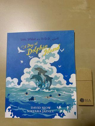 BN { A Day at Dolphin Island } + FOC SEA Aquarium Crayons 🖍
