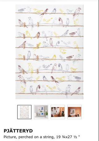 IKEA Wall Decoration Art with strings (To attach items)
