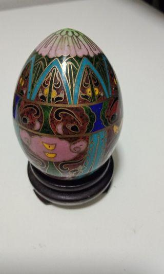 Chinese Cloisonne Eggs (small)
