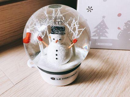 Le Creuset 2017 聖誕水晶球(White)
