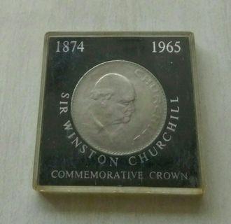 Britain 1965 Sir Winston Churchill Commemorative Crown In Case
