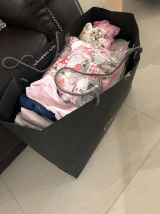 (FREE BN MY BREAST FRIEND)CLOTHES + BABY BUMPER + SWADDLES ETC