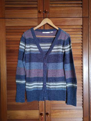 Slouchy striped vintage cardigan
