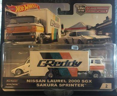 🚚 Hotwheels Team Transport Nissan Laurel & Sakura Sprinter