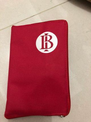 Tas tote bag merah red bank indonesia anti air waterproof