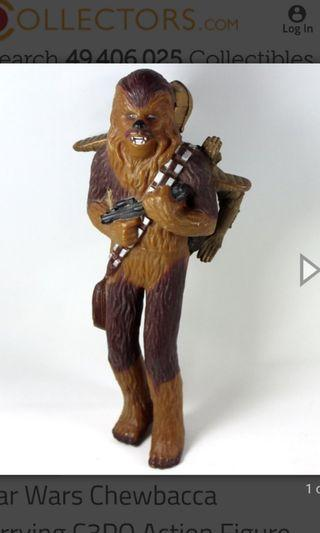 """Vintage APPLAUSE 1995 Chewbacca Carrying C3PO Vinyl 11"""""""
