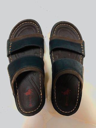 Mastini Brown Leather Slippers US11