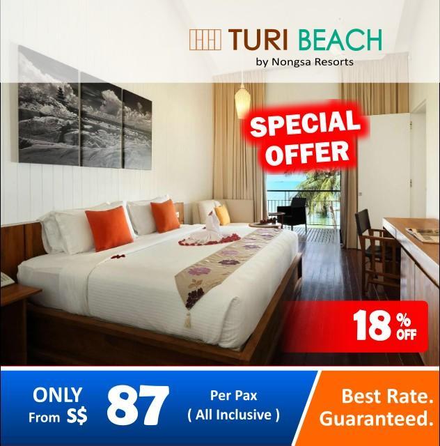 2D1N Turi Beach Resort Batam Hotel + 2 Way Ferry Ticket + Land Transfer + Breakfast / Batam Hotel Package