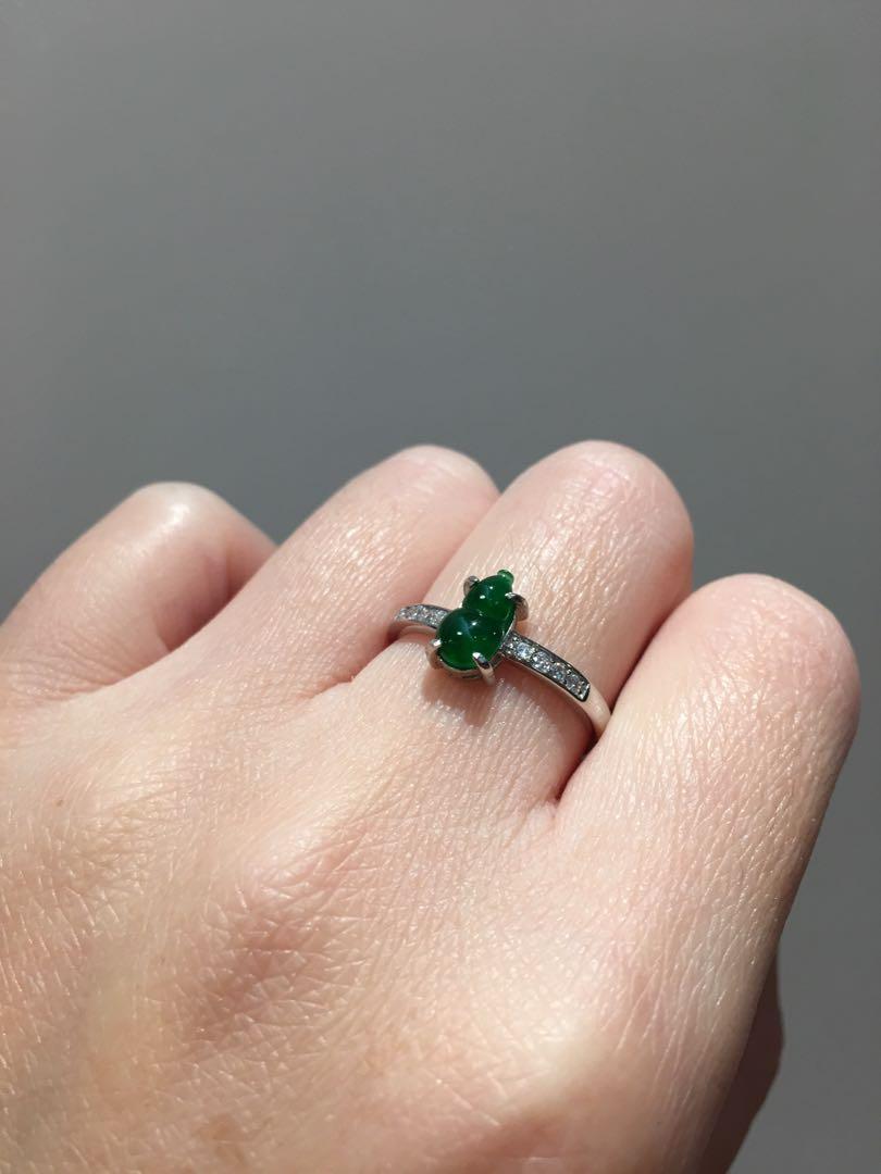 ✅🆕壺蘆冰辣綠戒指