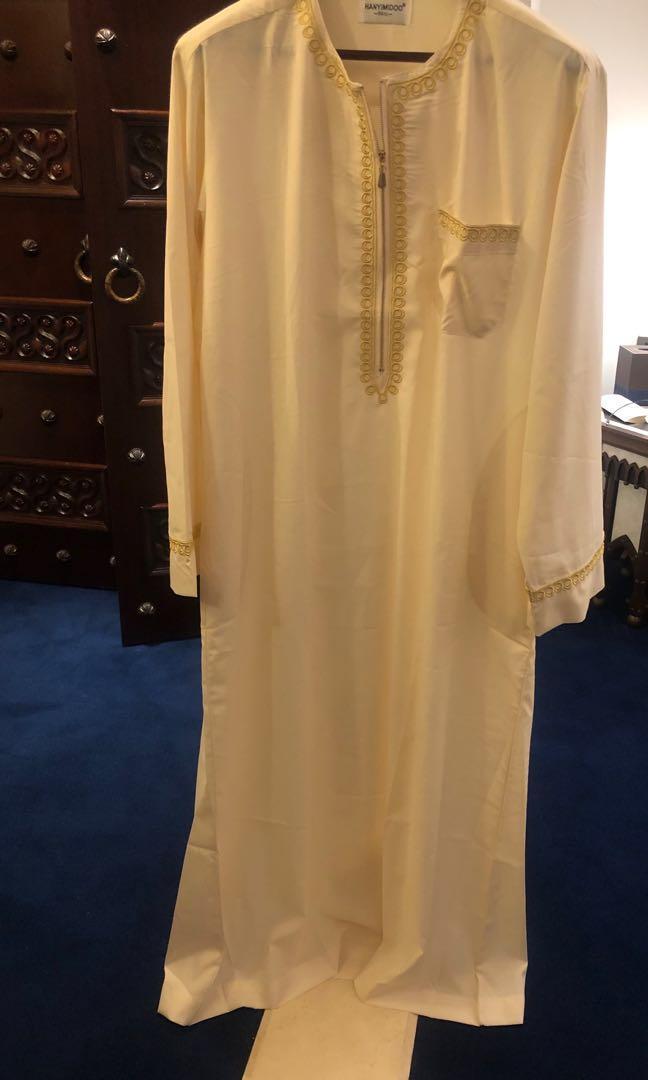 阿拉伯傳統 米色 長身 男裝
