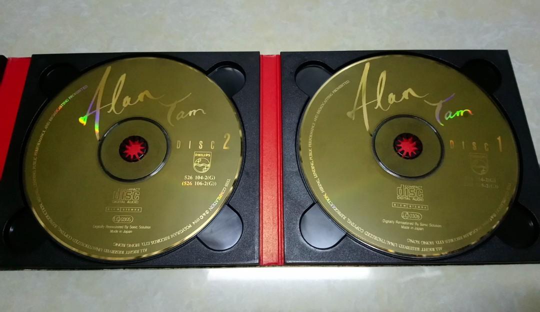 譚詠麟 Alan Tam 24K Gold 金藏集 CD Made in Japan