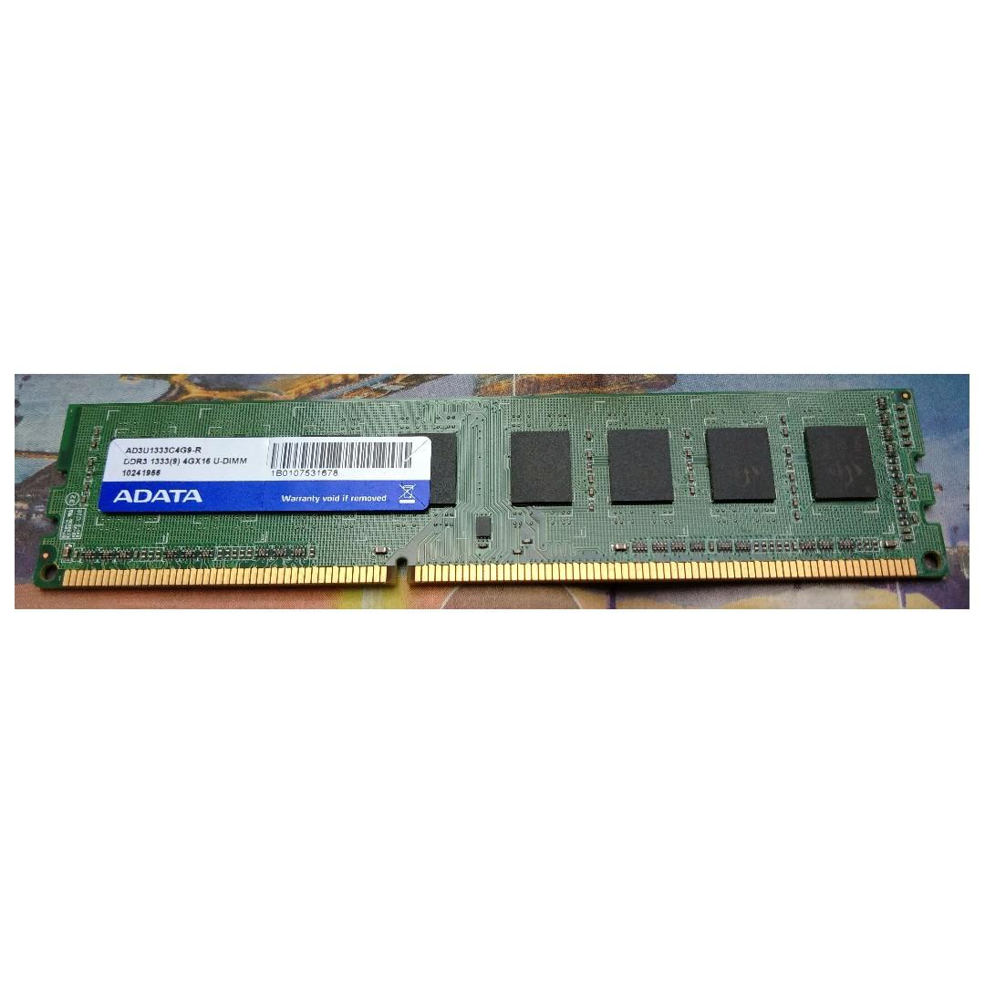 ADATA 4GB DDR3 1333 RAM 記憶體