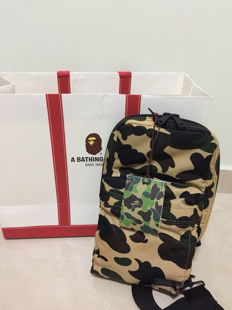 d386fe05 BAPE X PORTER 1st CAMO, Men's Fashion, Bags & Wallets, Sling Bags on ...