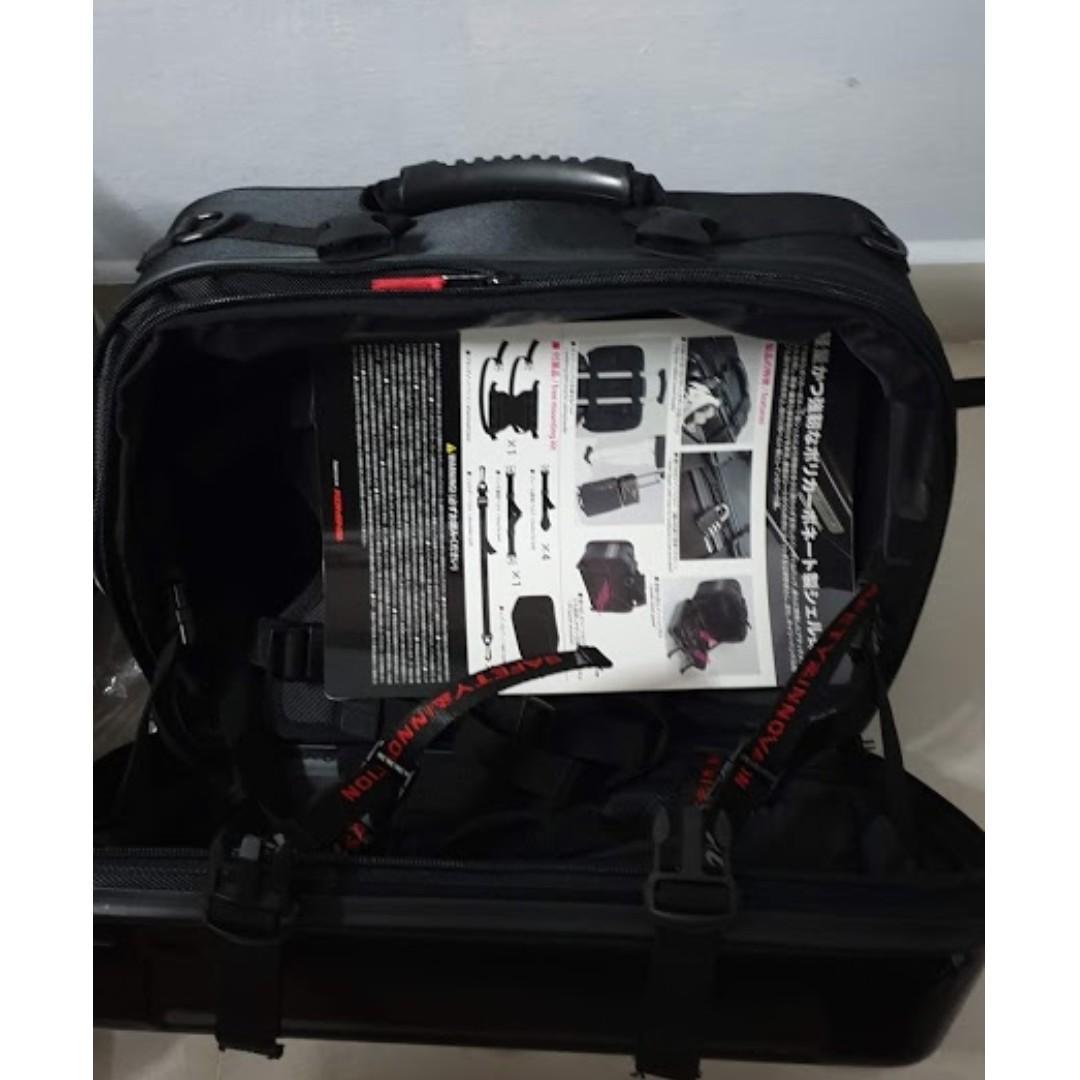 Black Komine KO SA-234 Hard Shell Touring Saddle Bag EXP
