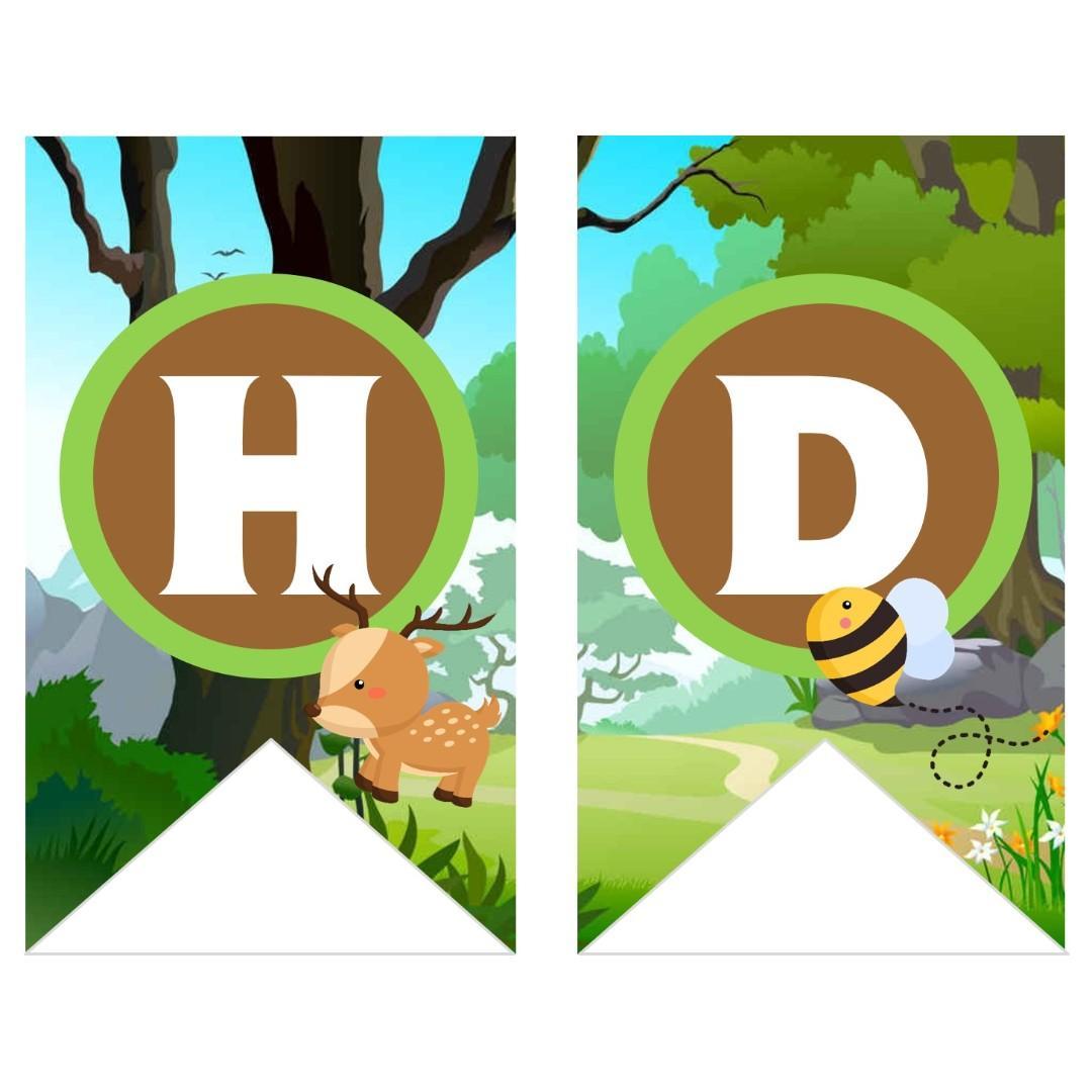 Bunting Banner - Woodlands Animals