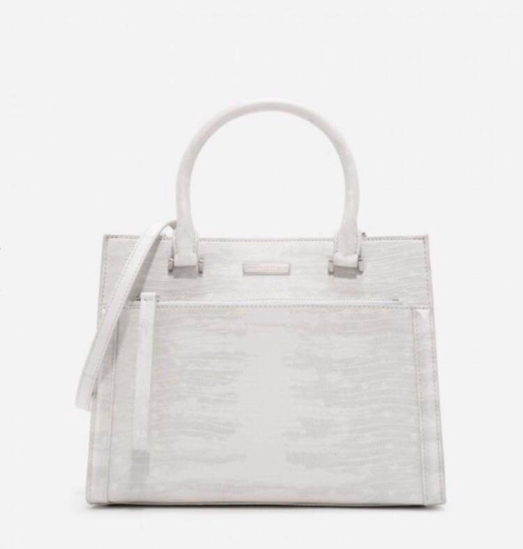 Charles & Keith Handbag -front zip structured bag  (new!)