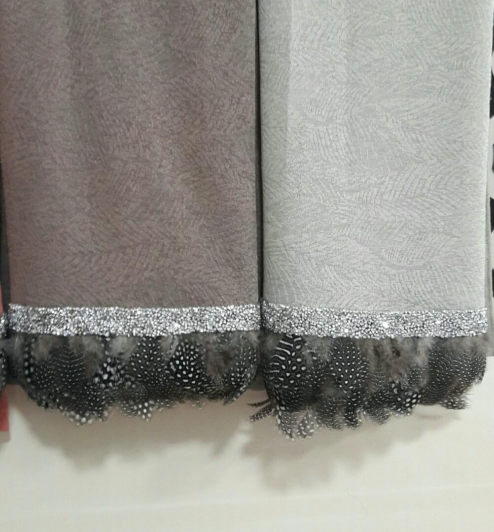 Chiffon Cerep and Saudia feather shawl