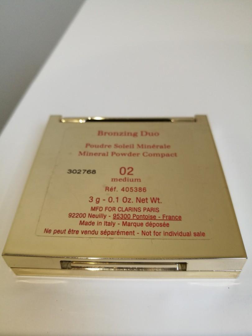 CLARINS Bronzing Duo Mineral Powder Compact 02 Medium 3g