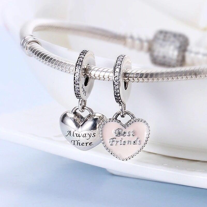 pandora charm best friends always there