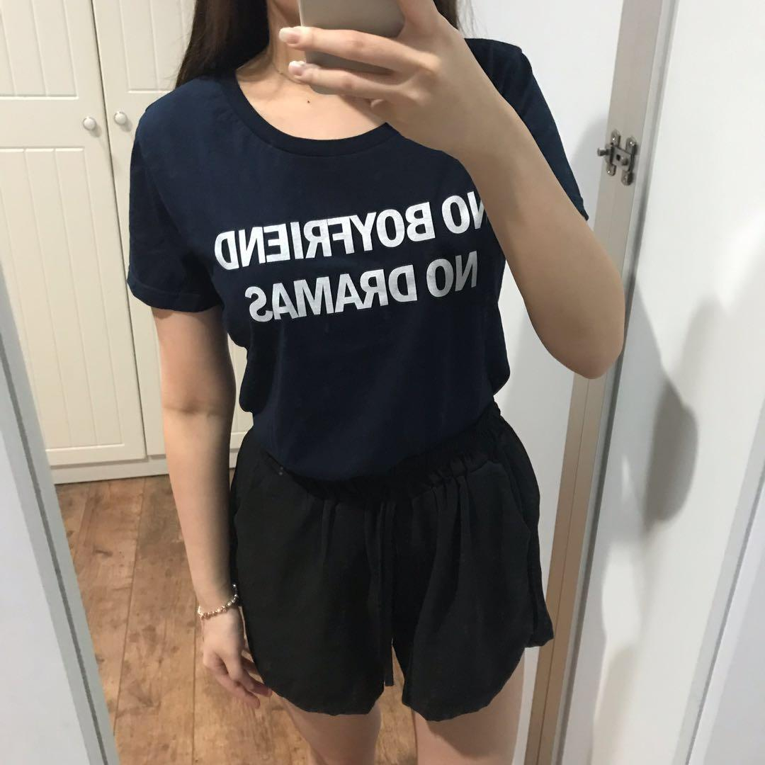Colorbox Navy Bf Tee
