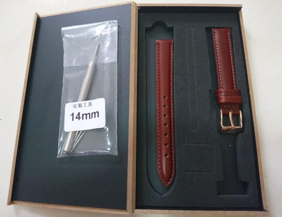 Daniel Wellington Leather Strap 14mm Width (Brown Color)