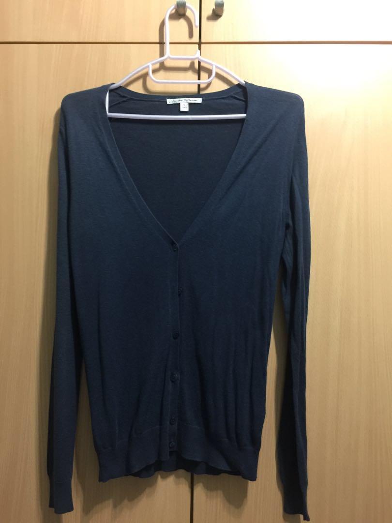 Dark Blue Cardigan Size Small )