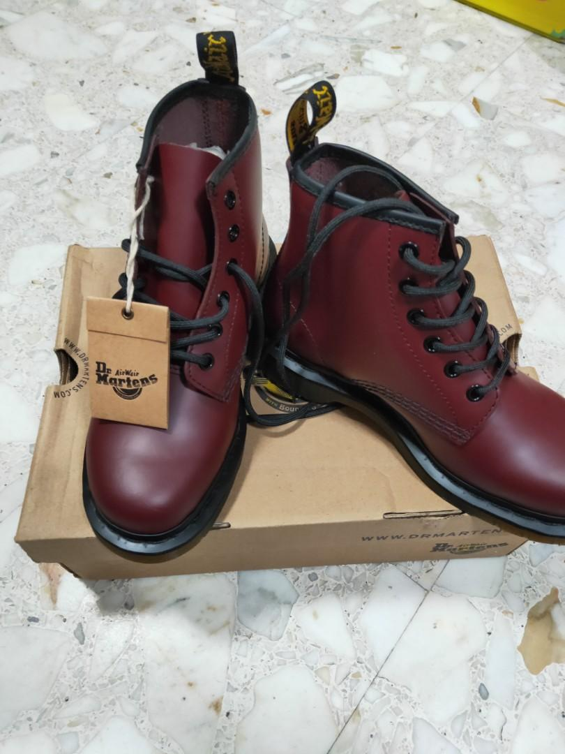 Dr Martens red boots