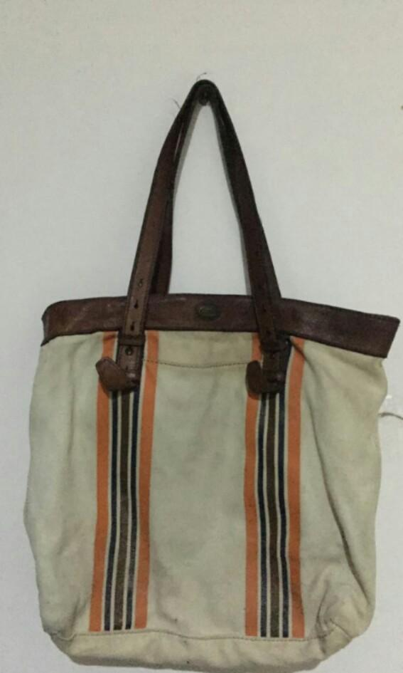 Fossil Tote Bag Authentic